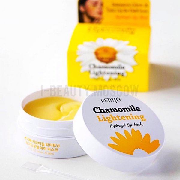 Патчи Petitfee Chamomile Lightening Hydrogel Eye Mask, 60 шт